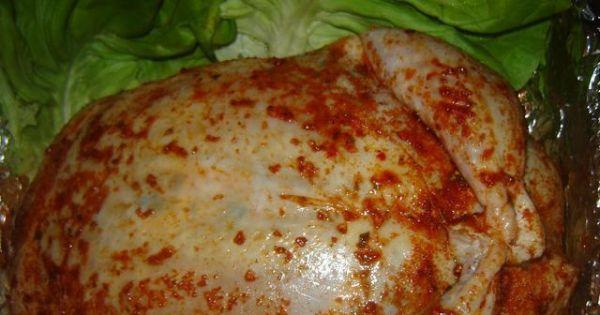 Kurczak faszerowany pieczarkami - Zdjęcie kurczaka przed pieczeniem