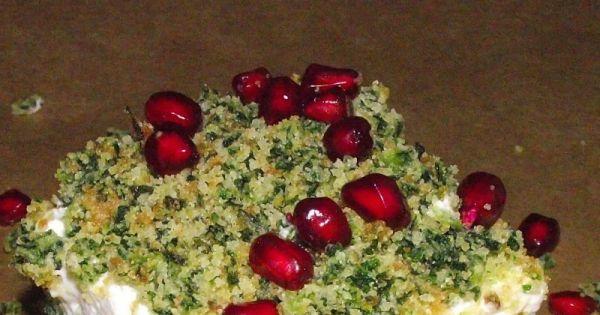Leśny mech z owocami granatu
