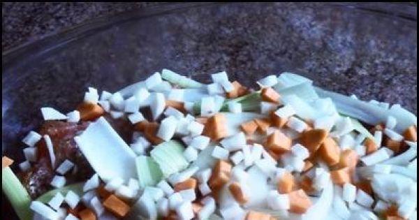 Łosoś w sosie śmietankowym - Dokładamy pozostałe warzywa pokrojone w kostkę