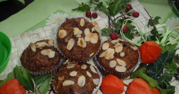Muffinki z jabłkiem i marchewką - Bardzo szybkie lekko  wilgotne ozapachu cynamonu