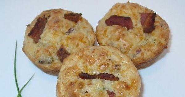 Mufinki z boczkiem - Mufinki z boczkiem, szczypiorkiem i serem cheddar