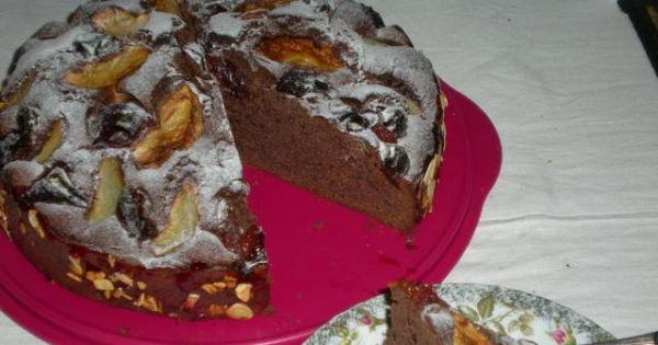 Murzynek z owocami - Pyszne ciasto kakaowe z owocami będzie smakowało każdemu!