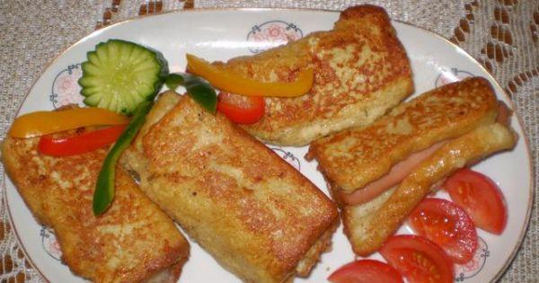 Paróweczki zapiekane w chlebie tostowym  - Parówki zapiekane w chlebie tostowym