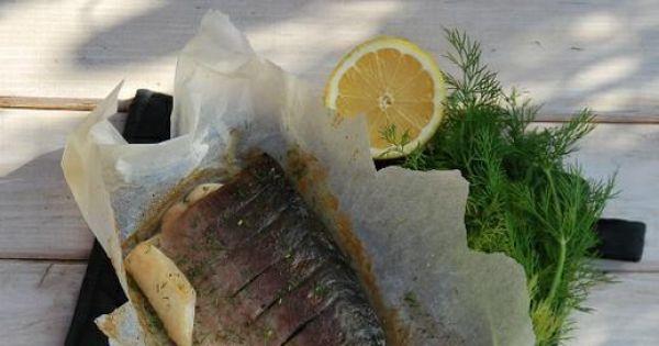 Pieczona tołpyga - Ryba z wyglądu przypominająca nieco naszego karpia.