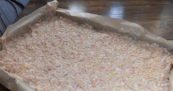 Pieczone gołąbki bez zawijania - gotową wyrobioną masę wykładamy na blachę i pieczemy dodatkowo do potrawy robimy sos pomidorowy