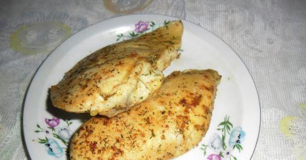 Pierś z kurczaka smażona w papierze - Pierś z kurczaka usmażona ..można zjeść ze smakiem.