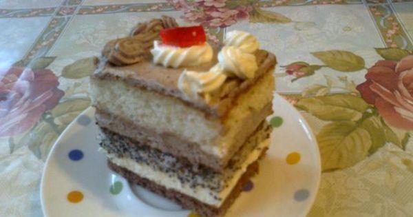 Piętrowiec trzykolorowy - Bardzo smaczne ciasto piętrowe w trzech kolorach.