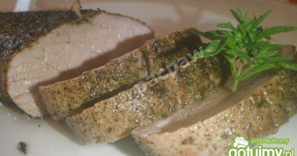 Polędwiczka wieprzowa pieczona - Pieczona polędwiczka wieprzowa z nutą tyminakową