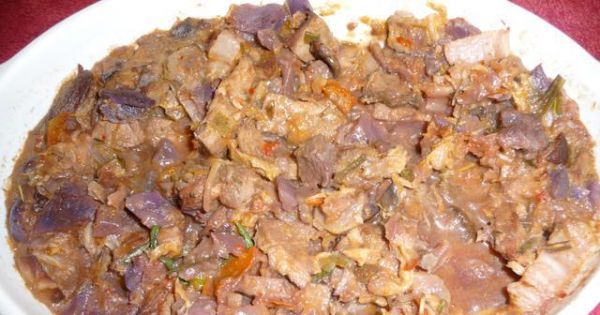 Potrawa z pieczonej szynki - Uwielbiam zamaczać w takiej potrawce kawałki świeżego chleba:-)