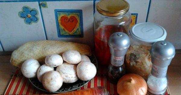 Potrawka z kaczki z kapustą, pieczarkami - Oto wszystkie składniki potrzebne do potrawki z kaczki.