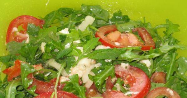 Prosta salatka z rukola  - Etap 1