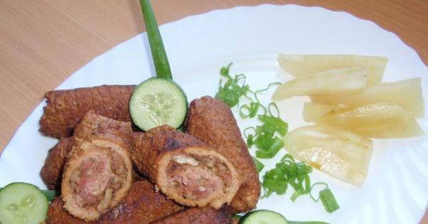 Pyszne roladki ze schabu - Schab w całkiem innej  wersji do  obiadu.