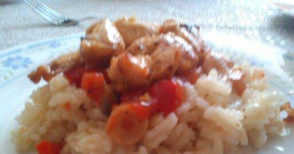Risotto curry z kurczakiem i warzywami.  - Pyszne i łatwe risotto.