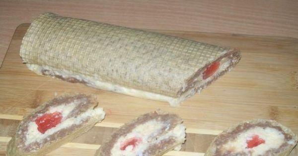 Rolada z wafli - Małe roladki to słodkości w sam raz na jeden kęs
