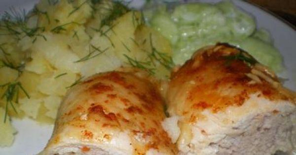 Roladki drobiowe z mięsem mielonym - Sycące, pożywne roladki z kurczaka nadziane mięsem mielonym