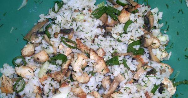 Sałatka gyrosowo-pieczarkowa - Doprawić solą i pieprzem, potem wymieszać z majonezem.