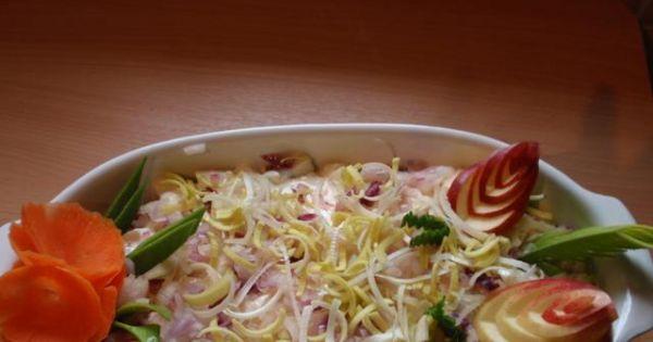 sałatka sledziowa w sosie musztardowym - Pyszna i szybka sałatka sledzoiwa w sosie musztardowym
