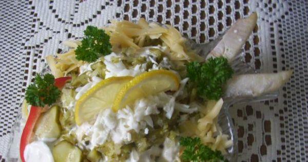Sałatka śledziowa z żółtym serem - Sałatka śledziowa z żółtym serem