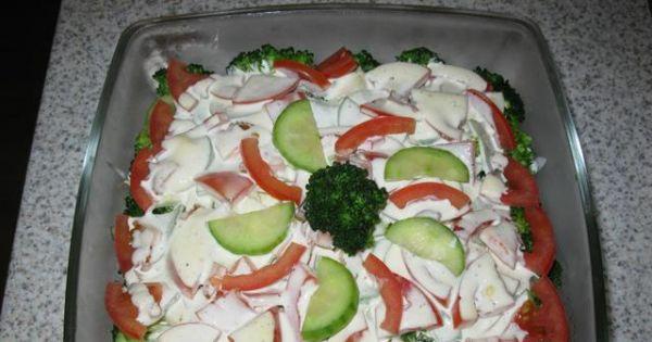 Sałatka z brokułem i pomidorem - ejla