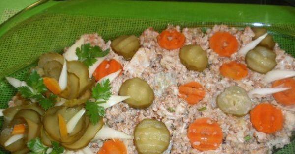 Sałatka z   kaszy  gryczanej - Pyszna i szybka sałatka  nadzisiejszą kolację.
