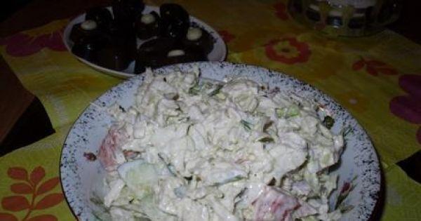 Sałatka z mozarelli i świeżych warzyw - Sałatka z mozarelli i świeżych warzyw - pyszna jest
