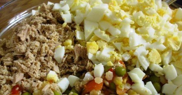 Salatka z tunczykiem i makaronem - Salatka z tunczykiem i makaronem