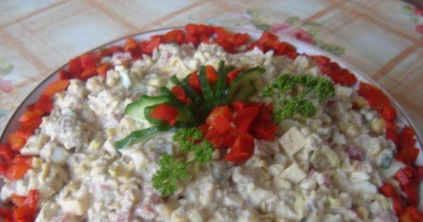 Sałatka z zupek chińskich i tuńczyka - Sałatka z zupek chńskich i tuńczyka