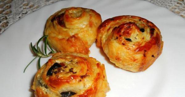 Ślimaczki z francuskiego ciasta - Ślimaczki z francuskiego ciasta z pysznościami w środeczku..