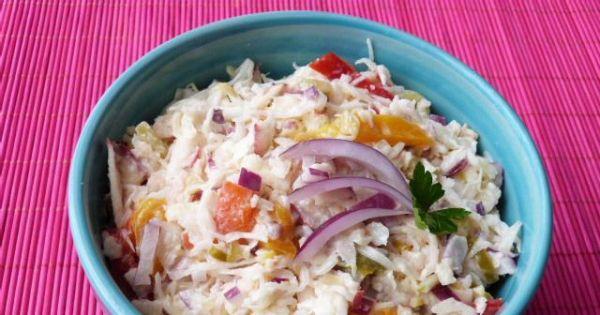 Surówka z kapusty białej i selera  - Do surówki z kapusty można dodać majonez