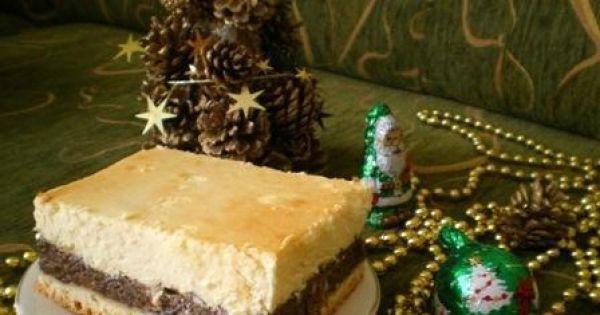 Świąteczny seromakowiec Mychy - Pyszne, świąteczne, wspaniałe w smaku ciasto serowo-makowe