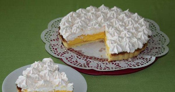 Tarta cytrynowa z bezą - Wspaniała tarta cytrynowa z delikatnym kremem i chrupiącą bezą...