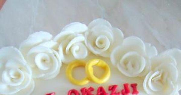 Tort na rocznicę ślubu - Pyszny, słodki tort dla rodziców z okazji ich święta