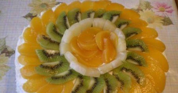 Tort śmietanowy z owocami - Tort śmietanowy z owocami