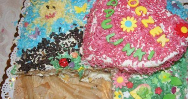 Tort z bitą śmietaną- na każdą okazję   - Przy 2 piętrowym torcie składniki z przepisu podwajamu