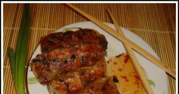 Wietnamskie sajgonki - Smakuje świetnie podana z sosem słodkowaśnym