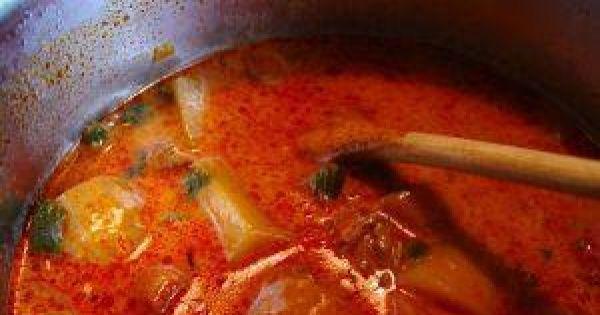Zupa gulaszowa z wieprzowiną - Zupa gulaszowa z wieprzowiną