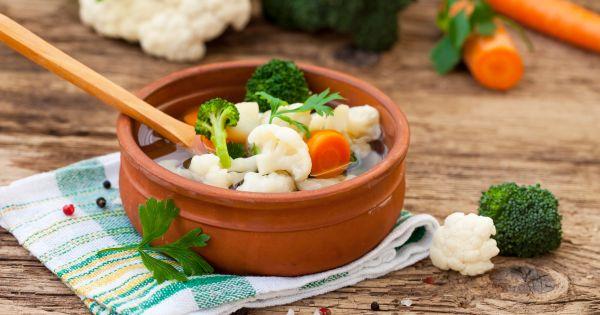 Zupa kalafiorowa z brokułem
