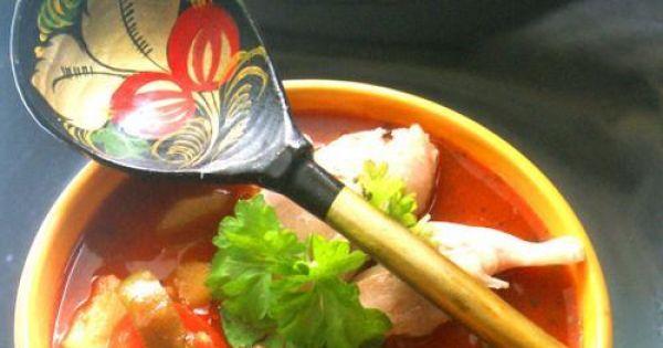 Zupa rosołowa z papryką - Paprykowa zupa na rosole- pikantna i goraca