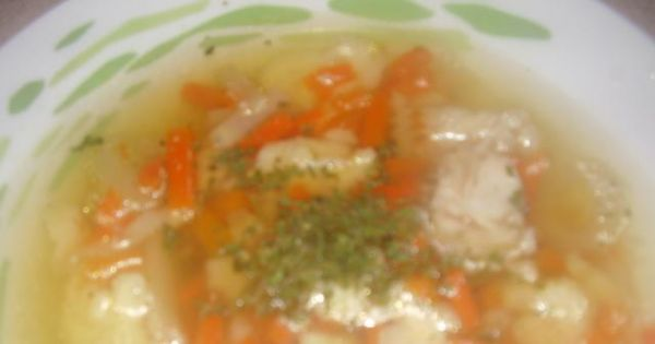 Zupa rybna z lanymi kluseczkami - Zupa rybna z lanymi kluseczkami
