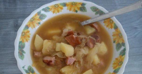 Zupa z kiszonej kapusty - moja zupa z kiszonej kapusty z dodatkiem ziemniaków.