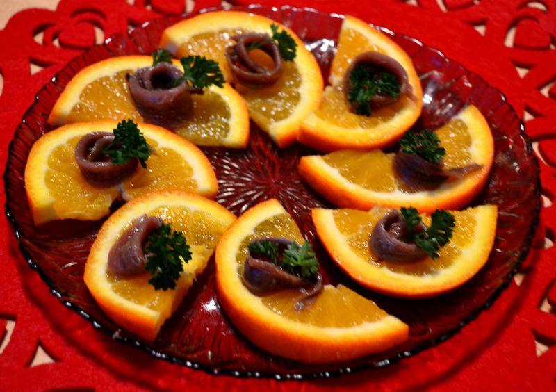 Anchois z pomarańczą czyli pyszna przekąska