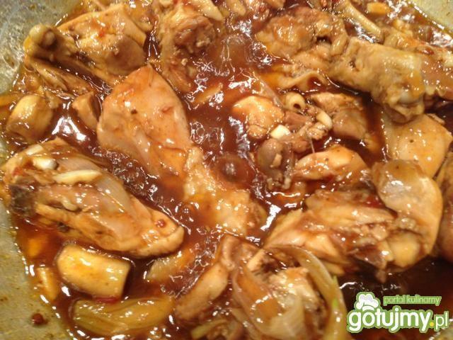 Azjatycki kurczak w ostrygowym sosie