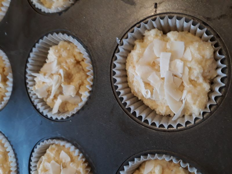 Babeczki cytrynowo - kokosowe
