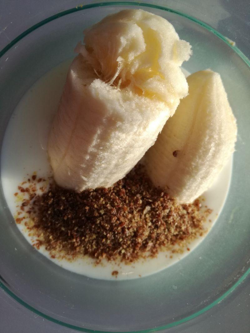 Bananowy koktajl z otrębami pszennymi
