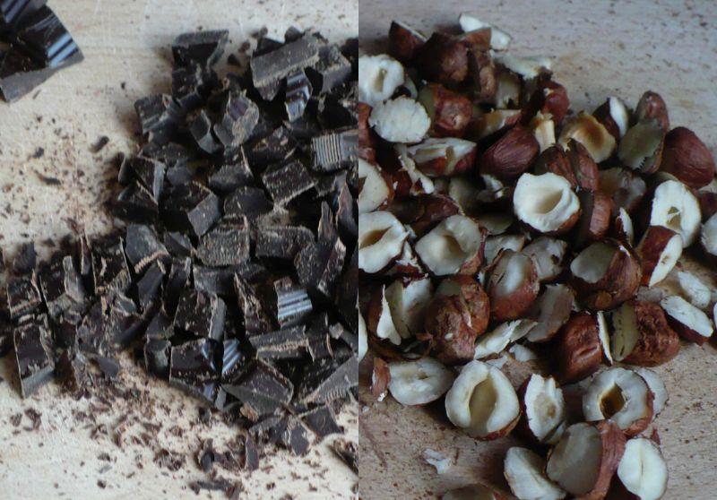 Bezglutenowe brownie z awokado malinami i orzecham