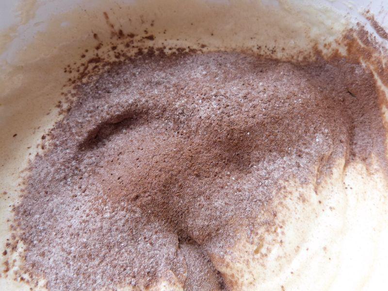Biszkopt kakaowy z masą słonecznikową