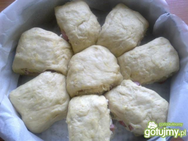 Bułki nadziewane szynka i serem