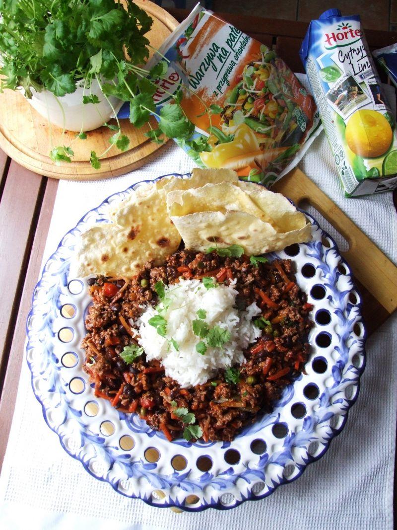 Chilli con carne z czarną fasolą i wołowiną