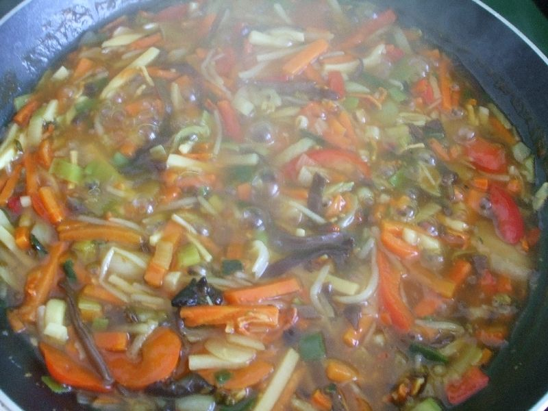 Chińska niby zupa z patelni