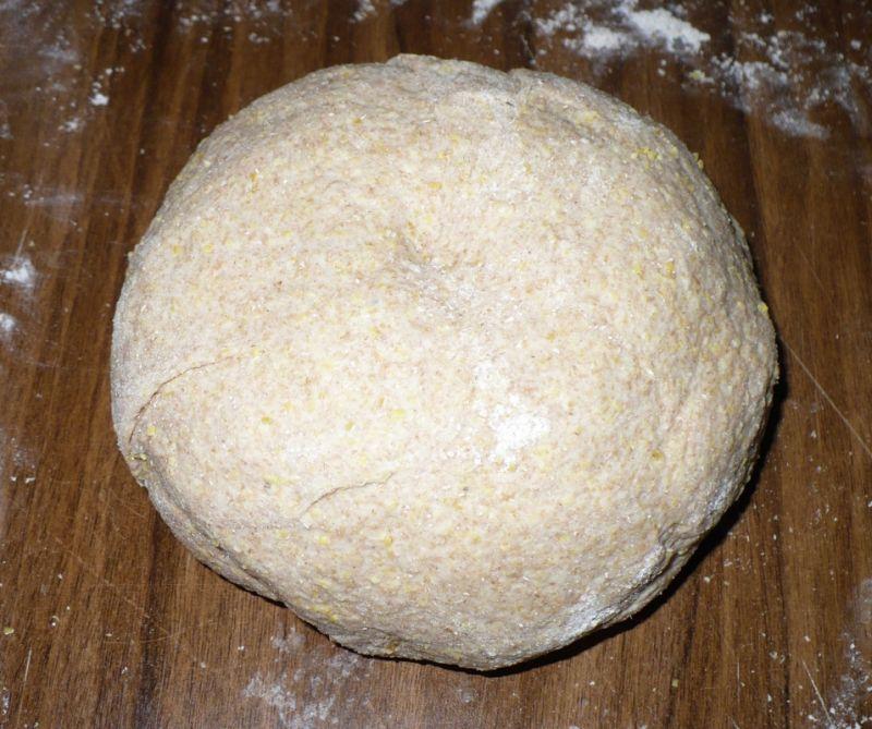 Chleb orkiszowy z polentą